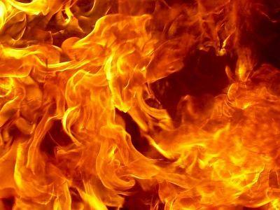 В Агдаме произошел сильный пожар Фотографии