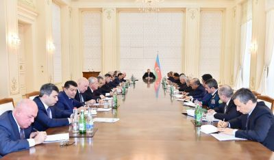 Состоялось заседание Кабинета Министров под председательством президента Ильхама Алиева  Фотографии