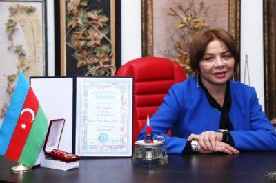 """Suğra Bağırzadə """"Fayda, şərəf və şöhrət""""ordeni ilə təltif edilib"""