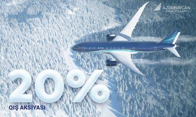 AZAL-dan qış aksiyası: Aviabiletlərə 20%-lik endirim