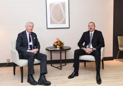 Prezident İlham Əliyevin McKinsey şirkətinin qlobal idarəedici tərəfdaşı Dominik Barton ilə görüşü olub