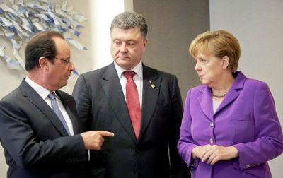 Poroşenko, Merkel və Olland arasında telefon danışığı olub