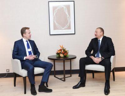 Ильхам Алиев встретился с главой МИД Норвегии