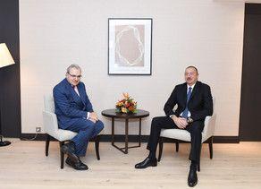 Ильхам Алиев в Давосе встретился с генеральным исполнительным директором компании Suez Group