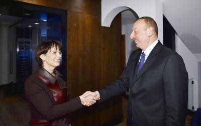 Prezident İlham Əliyev İsveçrə Prezidenti ilə görüşüb
