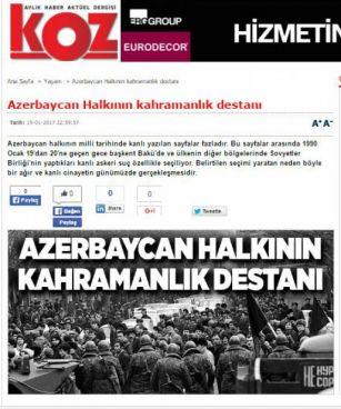 Türkiyə mətbuatı azərbaycanlı müxbirin məqaləsini yayıb