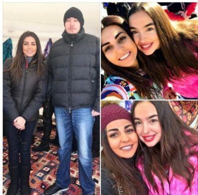 Гюлай Зейналлы вместе с членами семьи президента Фотографии