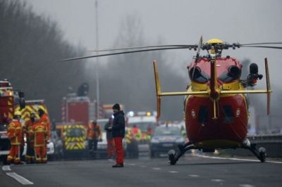 Тяжелое ДТП во Франции, десятки пострадавших
