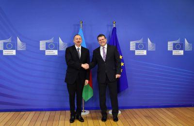 Ильхам Алиев встретился с вице-президентом Европейской комиссии