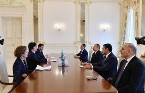 Ильхам Алиев принял французскую делегацию