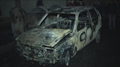 Hərəkətdə olan avtomobil yandı