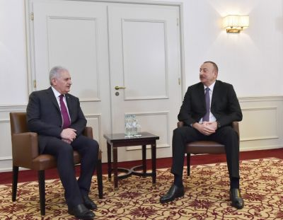 Ильхам Алиев встретился с Бинали Йылдырымом - Фотографии