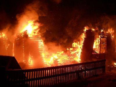 Сильный пожар в Грузии, есть погибший