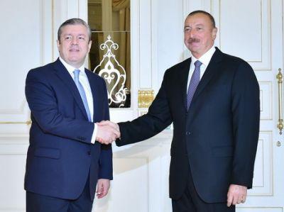 Состоялся телефонный разговор Ильхама Алиева с премьер-министром Грузии
