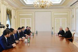 Ильхам Алиев принял делегацию из Турции