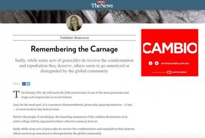 """""""The News"""": """"Ermənistanın Xocalı qətliamına görə cavab verməlidir"""""""