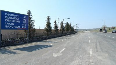 Cocuq Mərcanlı yoluna asfalt çəkilir FOTOLAR