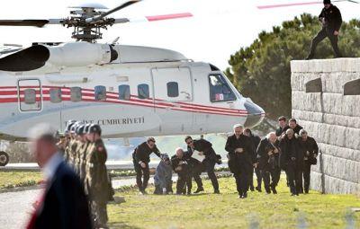 Ərdoğanın helikopteri Baş nazirinin müavininə çətin anlar yaşatdı