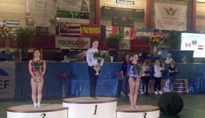 Gimnastımız Niderlandda qızıl medal qazanıb
