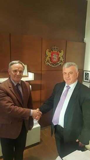 Əflatun Amaşov Kvemo Kartli-Borçalı bölgəsinin qubernatoru ilə görüşüb