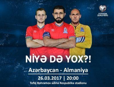 Milli komandamız Almaniya ilə üz-üzə gələcək