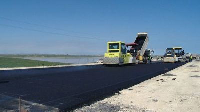 Binəqədi-Novxanı-Corat yolunun bir hissəsində yenidənqurma işləri bitir FOTOLAR