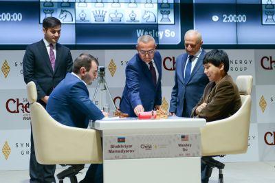 """""""Shamkir Chess 2017""""də ilk tura start verildi FOTOLAR"""