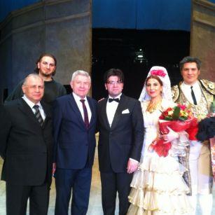 Azərbaycanlı sənətçilər Belarus teatrının səhnəsində - FOTOLAR
