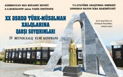 """""""XX əsrdə türk-müsəlman xalqlarına qarşı soyqırımları"""" - Lənkəranda konfrans"""