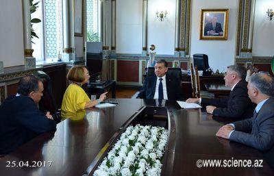 В НАНА состоялась встреча с представителем газеты «Поиск» Российской академии наук