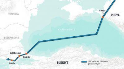 """""""Gazprom"""": """"Türk axını""""nın tikintisi yayda başlayacaq"""
