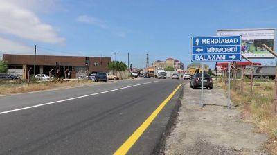 Binəqədi-Mehdiabad yolu istifadəyə verildi