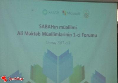 Ali məktəb müəllimlərinin I Forumu keçirilib YENİLƏNİB