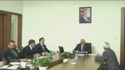 Səlim Müslümov Şəmkirdə vətəndaşları qəbul edib