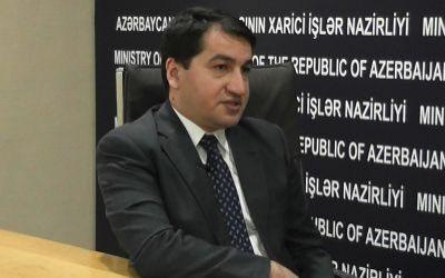 """Hikmət Hacıyev: """"Erməni əsillinin ədəbsiz şərhinə ehtiyac yoxdur"""" - MÜNASİBƏT"""