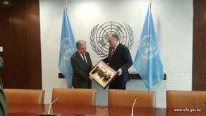 Эльмар Мамедъяров встретился с генсеком ООН