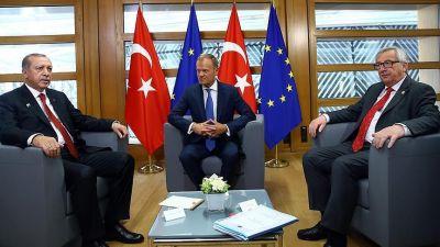 Türkiyə prezidenti Aİ Komissiyasının sədri ilə görüşüb