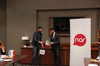 Победителям лотереи, проводимой среди абонентов Nar, были вручены призы